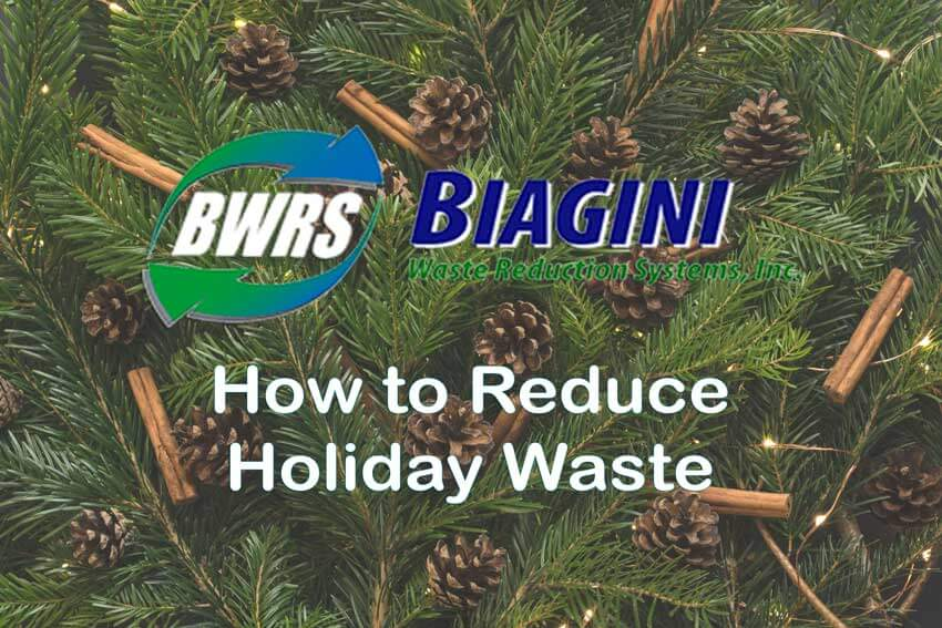 BWRS - How To Reduce Holiday Waste - pine cones and cinnamon bark on a Christmas tree.